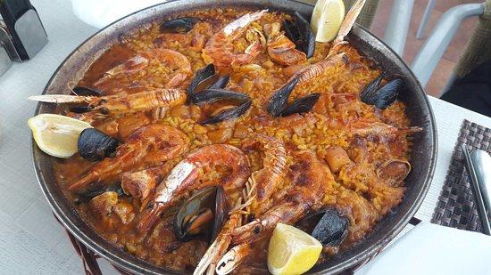 Binibeca, İspanya: Paella de marisco