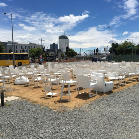 185 Empty White Chairs Earthquake Memorial Christchurch