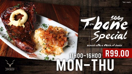Centurion, Afrika Selatan: Die Bosvelder Restaurant