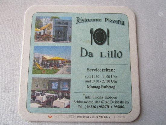 Ristorante Pizzeria Da Lillo, Deidesheim - Omdömen om restauranger - TripAdvisor