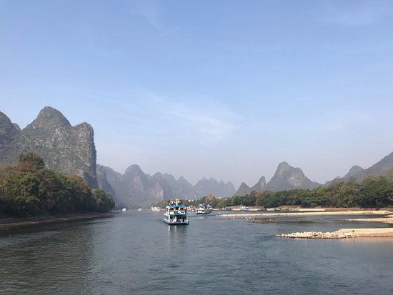 Guangxi, China: The mountains and the boats