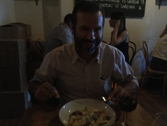 10 William St: Tucking in to pappardelle!
