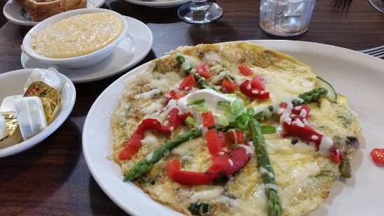 Original Word of Mouth: Veggie Frittata with Cheesy Grits