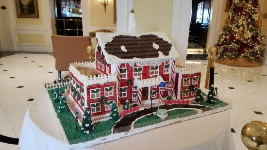 Red Bank, NJ: Ready for Christmas with a gingerbread replica!
