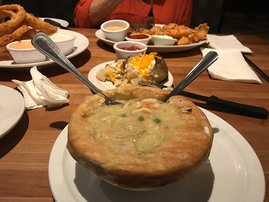 Wellington, FL: chicken pot pie after removing the crusy