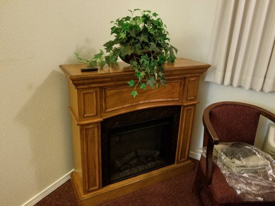 Lighthouse Inn: They had a faux fireplace in the room :)