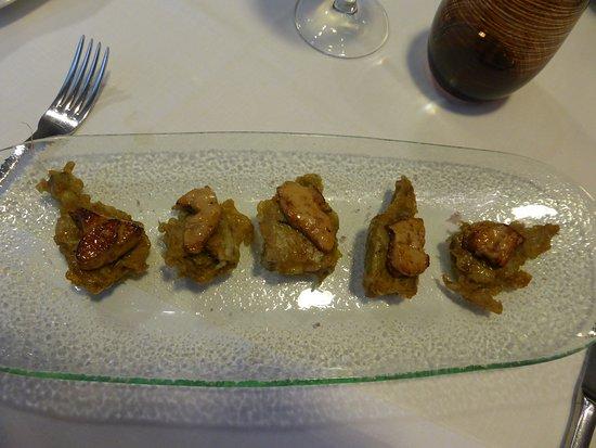 Cascante, Spain: Corazones de alcachofa con foie