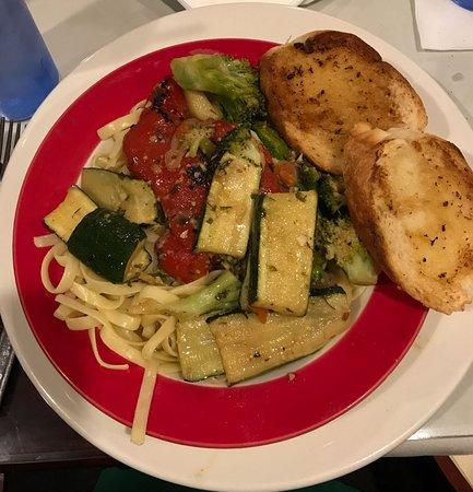 West Sand Lake, NY: Roasted Vegetables over Fettucine