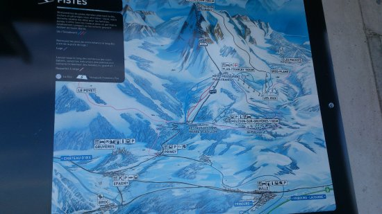 Moleson, Switzerland: Map for Winter Season