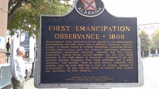 Court Square : Montgomery, First Emancipation Obsservance