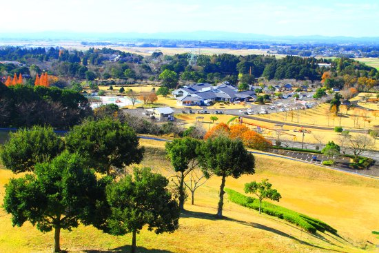 Miyakonojo, Japan: 中腹からの景観・1