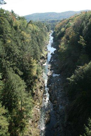 Quechee, VT: Queechee Gorge and Ottauqueechee River