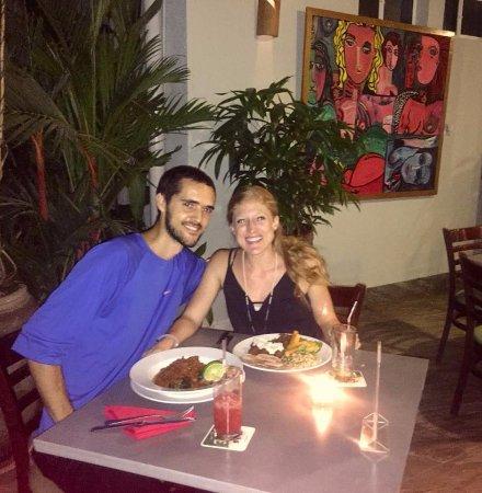 Ola Verde: My husband and I enjoying our entrees