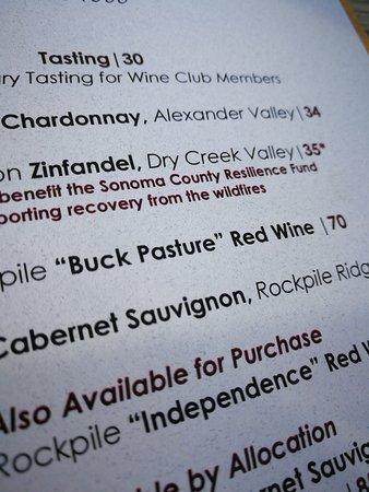 Healdsburg, CA: tasting menu