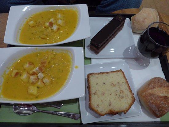 Paris caf le jardin du petit palais pumpkin soup lemon for Cafe le jardin du petit palais