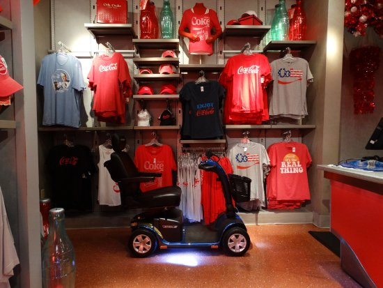 Gold Mobility Scooters: Rental Scooter at Coke store at Epcot