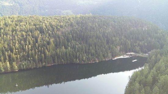 Ötz, Østrig: Piburgersee, im Winter und im spät Sommer bzw. Ende September