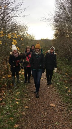 Bonnyrigg, UK: The family out hunting with Kass.