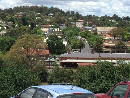 Castlemaine, Austrália: Old Goal Cafe overlooking Castlemanine.