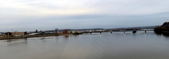 crossing the Mississippi River in to Dubuque, Iowa