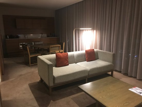 Pan Pacific Melbourne 2 Bedroom Apartment Living Area