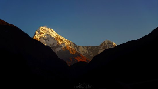 Ghorepani, Nepal: Look outside my room be able to see good view.