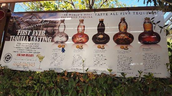 Temecula, Kalifornia: Tequila Tasting Area