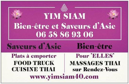 YIM SIAM Carte De Visite Bien Tre Et Saveurs DAsie