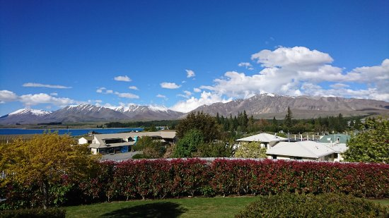 Lake Tekapo Lodge: view from deckchair