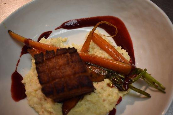 Basalt, CO: Robert Sinskey Wine Dinner Pork Belly Course