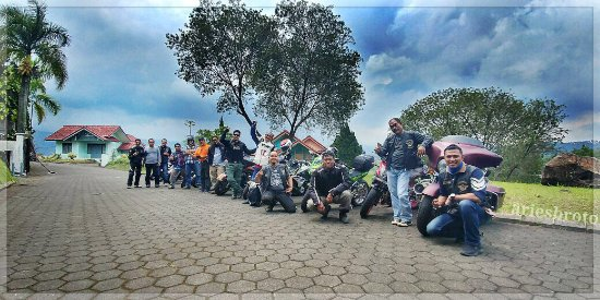 KMC Seamen Bikers visiting Bukit12 Camp- Cipanas