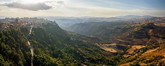Castello di Lombardia (Enna): виды с башни