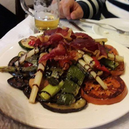 Excelente parrillada de verduras