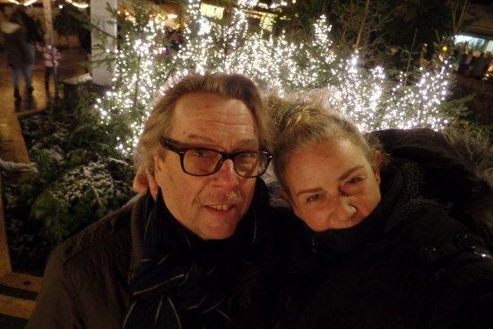 Gottlieben, İsviçre: Wir auf Weihnachtsmarkt Konstanz