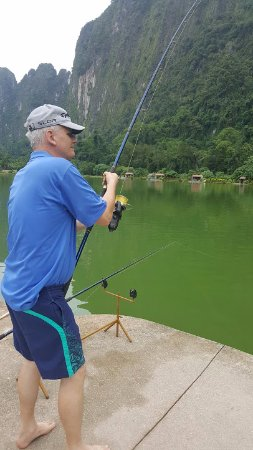 Phang Nga, Tayland: My friend and colleague, Mr. Johan had a great time