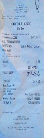 พอทสดัม, นิวยอร์ก: $39.56 avec pourboire