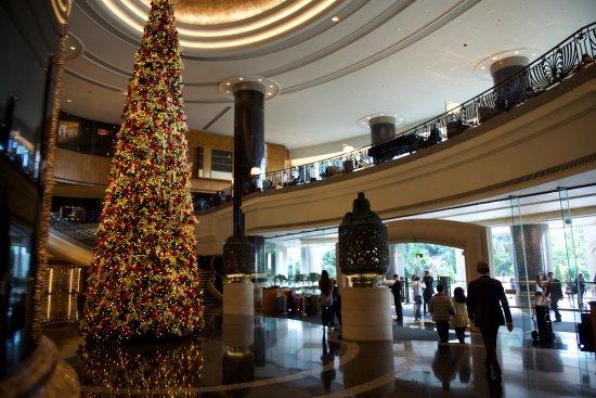 Grand Hyatt Hong Kong: Lobby un peu avant Noel