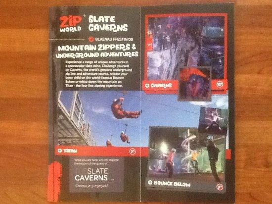 Blaenau Ffestiniog, UK: Brochure of caverns