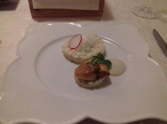 Buje, كرواتيا: Escalope, rice, cauliflower