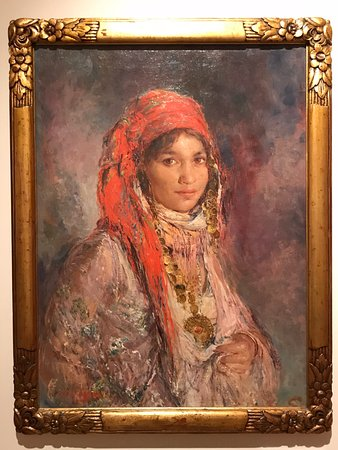 Young girl with red scarf by Edouard Verschaffelt - Photo de Musee d ... 7f612fd1871