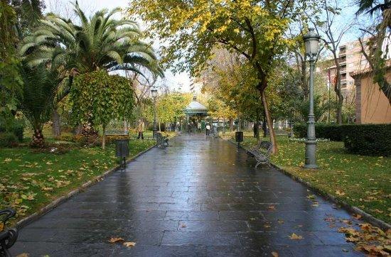 Puertollano, Spania: Visa del paseo que va de la fuente agria a la fuente de los leones en pleno otoño