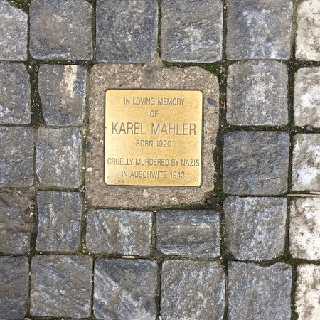Stolperstein Klara and Karel Mahler