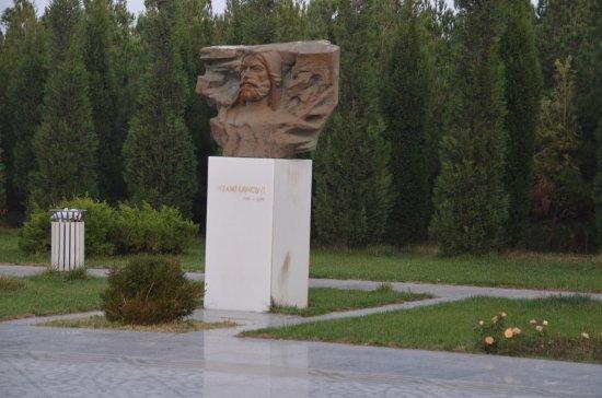 Nizami Ganjavi Mausoleum : Sculture outside of museum