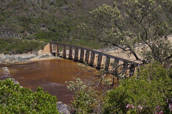 Wilderness, Sudáfrica: Dolphin's Point - Eisenbahnbrücke