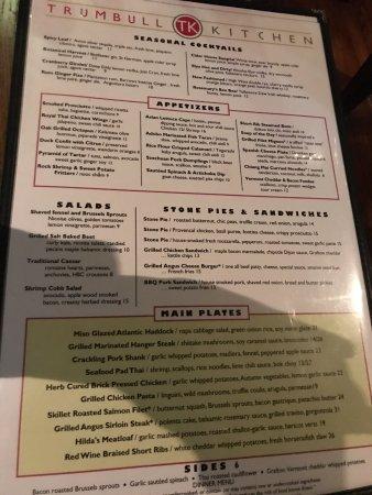 Trumbull Kitchen Menu Hartford