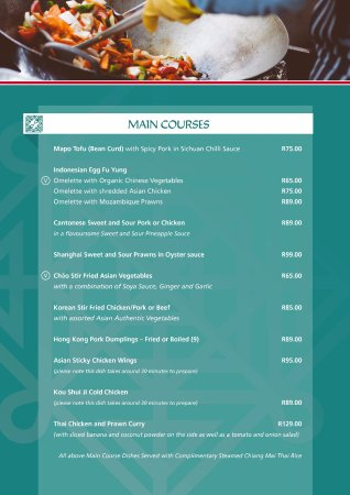Winterton, South Africa: New Menu Page 5