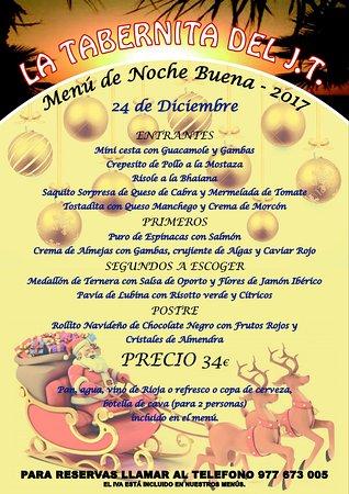 Segur de Calafell, Spanien: Menú de Noche Buena