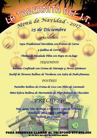 Segur de Calafell, Spanien: Menú de Navidad
