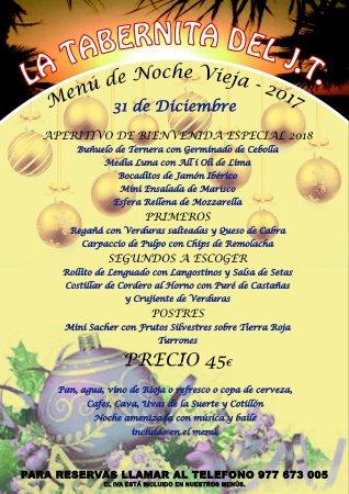 Segur de Calafell, Spanien: Menú de Noche Vieja