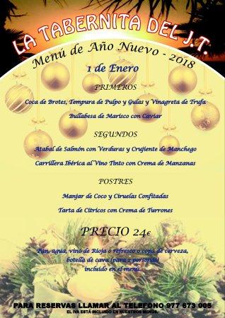 Segur de Calafell, Spanien: Menú de Año Nuevo